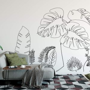 muurillustratie met urban bladeren-1