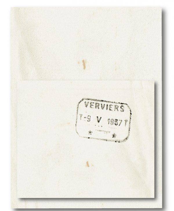 vintage kunst telegram met datum stempele
