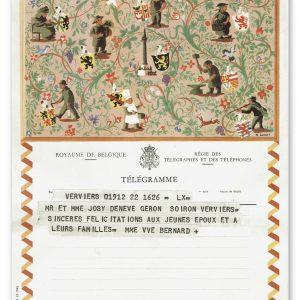 vintage kunst telegram met 8 ambachten