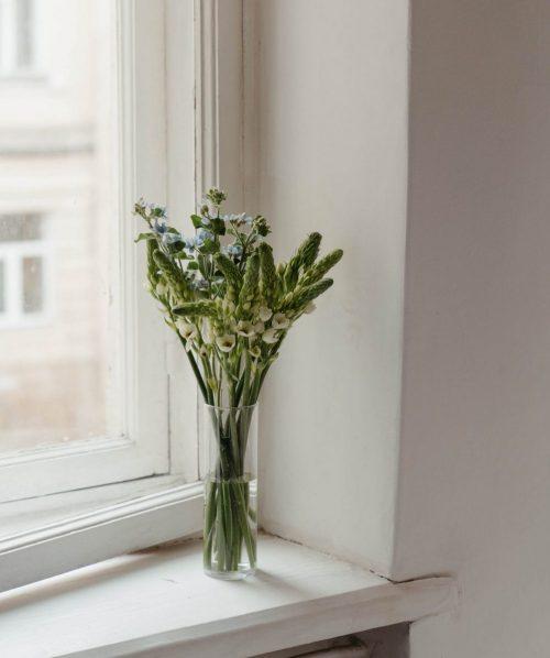 Vensterbank-met-vaas-bloemen
