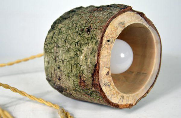 Hanglamp van berkenhout 02