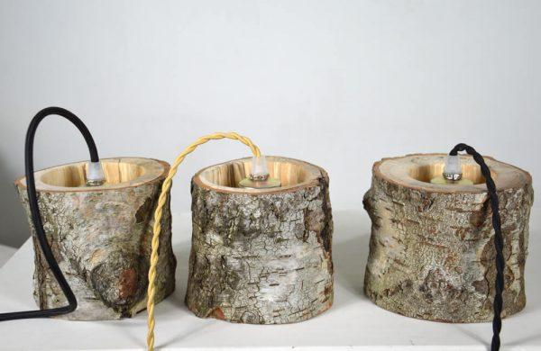 Hanglamp van berkenhout 04