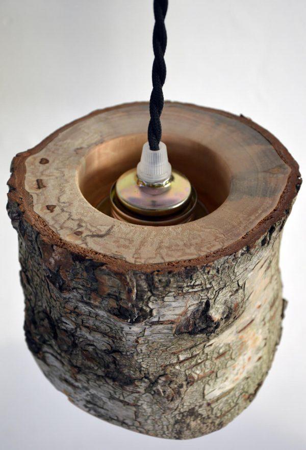 Hanglamp van berkenhout 07
